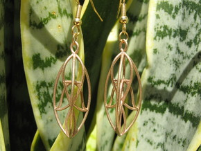 Leaves Earrings in Natural Bronze