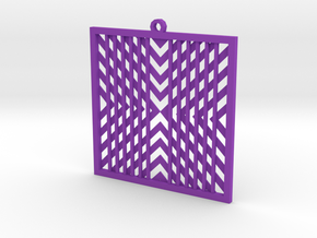 Pendant square in Purple Processed Versatile Plastic