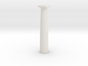 Doric Column No Base 12 Cm in White Natural Versatile Plastic