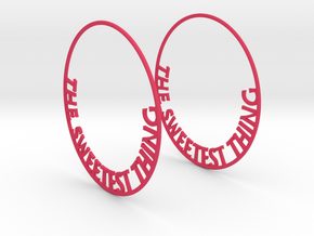 The Sweetest Thing Hoop Earrings 60mm in Pink Processed Versatile Plastic