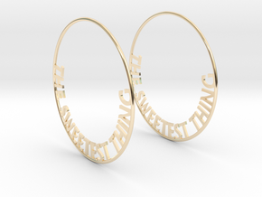 The Sweetest Thing Hoop Earrings 60mm in 14K Yellow Gold