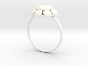 Diamond Ring US Size 8 UK Size Q in White Processed Versatile Plastic
