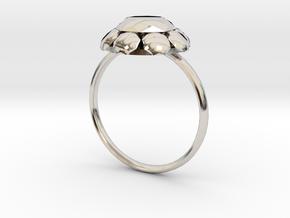 Diamond Ring US Size 7 UK Size O in Platinum