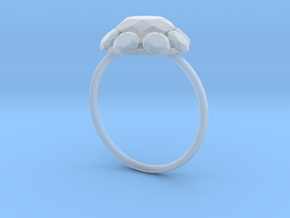 Diamond Ring US Size 7 UK Size O in Smooth Fine Detail Plastic