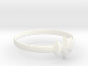 Elleve Ring US Size 8 UK Size Q in White Processed Versatile Plastic