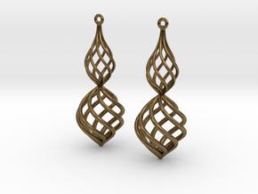 Posh Big Earrings 50mm in Natural Bronze