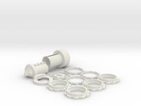 Combination Lock USB Flash drive Case in White Natural Versatile Plastic