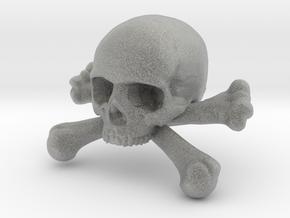 12mm .47in Skull & Bones for earring in Metallic Plastic