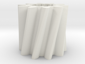 Helical gear Mn=4 Z=10 Pressure Angle=20° Beta=25° in White Natural Versatile Plastic