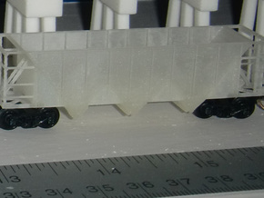 U15 Hopper N Scale  in Smooth Fine Detail Plastic