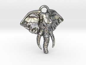 Elephant in Polished Silver