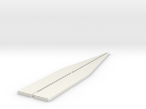 Loading Bank Edging - Ramps in White Natural Versatile Plastic