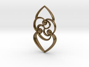 Celtic rose in Natural Bronze