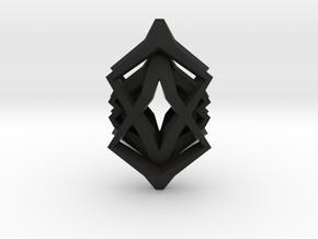 HEAD TO HEAD Symbiotic, Pendant  in Black Natural Versatile Plastic