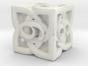 Celtic D6 - Solid Centre for Plastic in White Natural Versatile Plastic