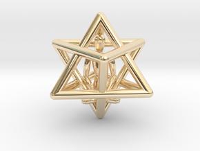 Merkaba Meditation Pendant in 14K Yellow Gold