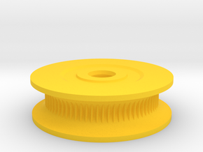 Counter Cog Attachment for Rotary Encoder in Yellow Processed Versatile Plastic