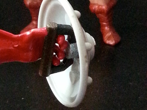 1980s MOTU shield handle sized for Skeletor in White Strong & Flexible Polished