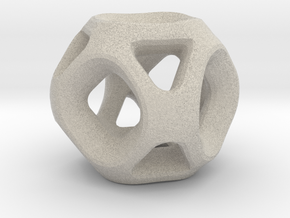 Geodesic Accent Sculpture in Natural Sandstone