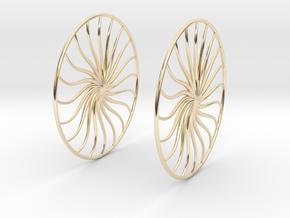 Flowerish 4 Big Hoop Earrings 60mm in 14K Yellow Gold