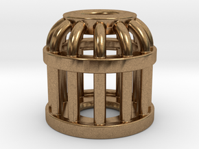 Birdcage Bead 2 (All Materials) in Natural Brass