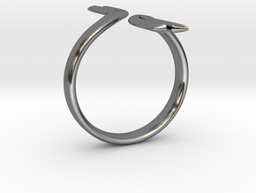 Split Elegance Ring in Premium Silver