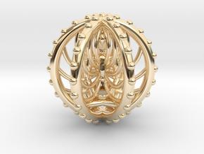 Meditation Energy Pendant  in 14K Yellow Gold