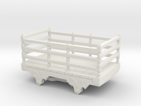 O14 Festiniog wooden slate wagon  in White Strong & Flexible