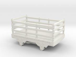 O14 Festiniog wooden slate wagon  in White Natural Versatile Plastic