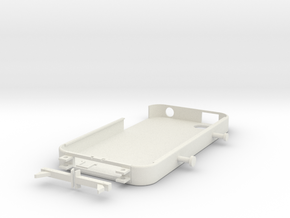 iPhone 4/4S Case w/ Stand & Earphone Holder in White Natural Versatile Plastic