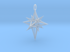 Christmas 3D Star in Smooth Fine Detail Plastic