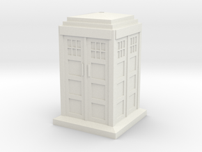 TT Type 40 Mark 1 TARDIS 1/87 Scale in White Natural Versatile Plastic