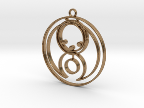 Bella - Necklace in Natural Brass