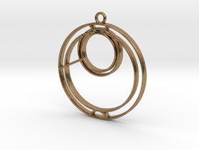 Anna - Necklace in Natural Brass