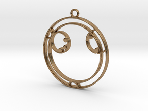 Ayla - Necklace in Natural Brass
