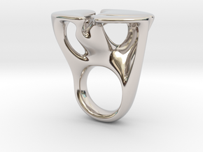 MYCELIUM - Ring size 6/16mm in Platinum