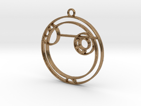 Alexa - Necklace in Natural Brass