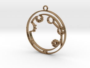 Alexandra - Necklace in Natural Brass
