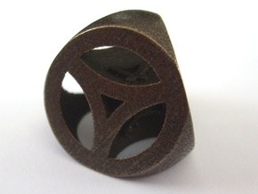 Alien D4 in Polished Bronzed Silver Steel