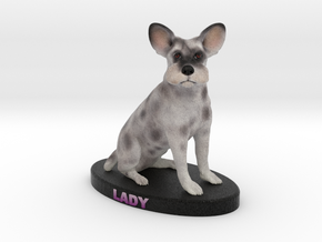 Custom Dog Figurine - Lady in Full Color Sandstone