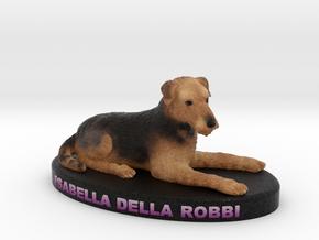 Custom Dog Figurine - Isabella in Full Color Sandstone