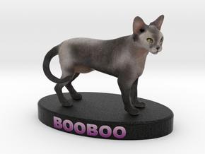 Custom Cat Figurine - Booboo in Full Color Sandstone