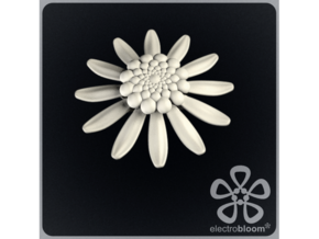 Daisy flower charm. in White Natural Versatile Plastic