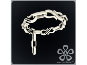 S Hook chain bracelet. in White Strong & Flexible