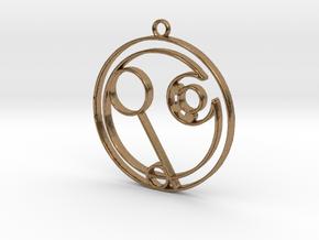 Eden - Necklace in Natural Brass