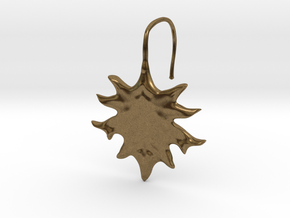 Oak Leaf Earring (~16 gauge wire thickness) in Natural Bronze