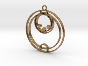 Ella - Necklace in Natural Brass