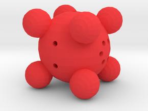 Dice3 in Red Processed Versatile Plastic