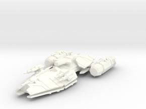 Raptor Class Battleship in White Processed Versatile Plastic