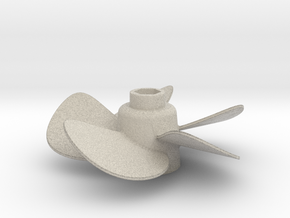 Propeller with 5 Blades in Natural Sandstone